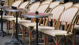 Openlucht koffie Parijs Frankrijk Royalty-vrije Stock Afbeeldingen