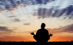 Openlucht Meditatie stock foto's