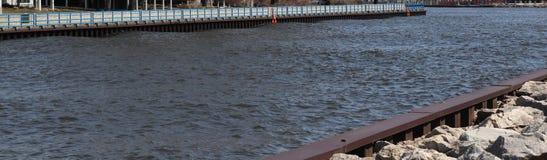 Openlucht, Meer Michigan, zand, vogels, Rivier, golven, Pijler, Water, Zuidentoevluchtsoord, Vakantie stock foto's