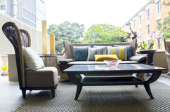 Openlucht moderne woonkamer Royalty-vrije Stock Afbeelding