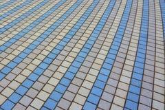 Openlucht multi-colored vloertegels stock foto