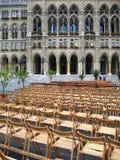 Openluchtoverleg in Wenen, Oostenrijk stock foto