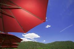 Openlucht Paraplu's Royalty-vrije Stock Foto's