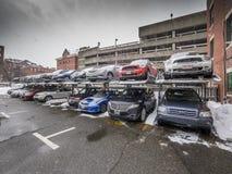 Openlucht parkeerterrein Stock Afbeeldingen