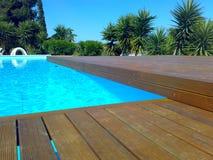 Openlucht pool stock fotografie