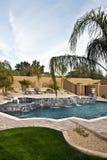 Openlucht pool, hottubs en fonteinen Royalty-vrije Stock Afbeeldingen