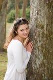 Openlucht portret van een jonge mooie vrouw Royalty-vrije Stock Fotografie