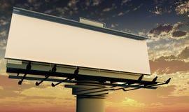 Openlucht reclame Stock Afbeelding