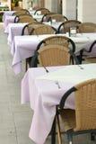 Openlucht restaurant stock foto