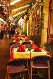 In openlucht restaurant stock foto's