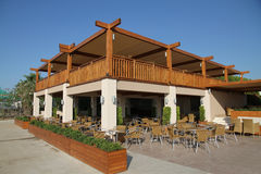 Openlucht restaurant Royalty-vrije Stock Fotografie
