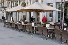 Openlucht restaurant Stock Afbeelding