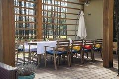 Openlucht restaurant Stock Foto's
