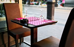 Openlucht restaurant Stock Fotografie