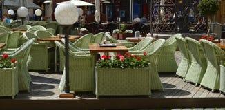 Openlucht restaurant Royalty-vrije Stock Foto