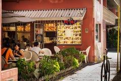 Openlucht Restaurant royalty-vrije stock afbeelding