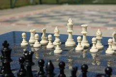 Openlucht schaak Stock Afbeelding