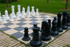 Openlucht schaak. Royalty-vrije Stock Afbeelding