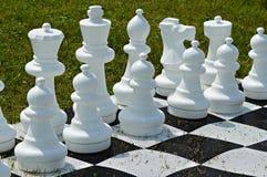 Openlucht schaakspel Stock Foto