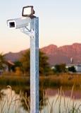 Openlucht surveillacecamera Stock Foto's