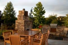 Openlucht terras en cooktop Stock Afbeelding