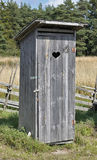 In openlucht Toilet Royalty-vrije Stock Afbeelding