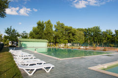 Openlucht zwembad Stock Afbeelding