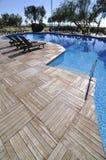 Openlucht Zwembad van een Hotel Royalty-vrije Stock Fotografie