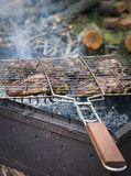 Openluchtbarbecue in de tuin Royalty-vrije Stock Foto