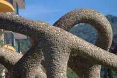 Openluchtbeeldhouwwerk in Tossa de Mar (Grirona) 2 Royalty-vrije Stock Foto