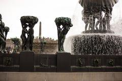 Openluchtbeeldhouwwerken in Oslo stock afbeelding