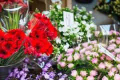 Openluchtbloemmarkt in Kopenhagen, Denemarken Royalty-vrije Stock Fotografie
