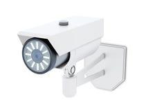 Openluchtdiekabeltelevisie-Camera op witte achtergrond wordt geïsoleerd het 3d teruggeven Royalty-vrije Stock Foto