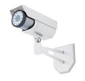 Openluchtdiekabeltelevisie-Camera op witte achtergrond wordt geïsoleerd het 3d teruggeven Royalty-vrije Stock Fotografie