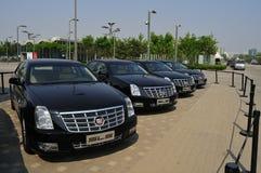 Openluchtexhbition, Dramatische Reis 110 Jaar – het Ontwerp van Cadillac van 2012 en Art Show, Peking Stock Fotografie