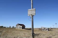 Openluchtfoto van het verlaten land van de stadsstad Stock Afbeelding