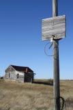 Openluchtfoto van het verlaten land van de stadsstad Royalty-vrije Stock Fotografie