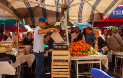 Openluchtfruitmarkt, Catanië Royalty-vrije Stock Foto's
