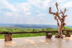 Openluchtgezichtspunt op de berg Stock Fotografie