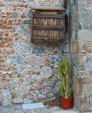 Openluchtinstallaties in het dorp royalty-vrije stock fotografie