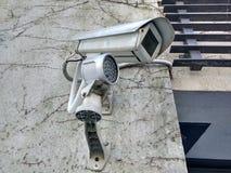 Openluchtkabeltelevisie-camerasurveilance Stock Foto's