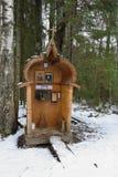 Openluchtkapel dichtbij de doopvont in kloosternikandrova Pustyn Stock Fotografie