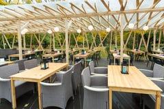 Openluchtkoffie Vier Keukens in het park Royalty-vrije Stock Afbeeldingen
