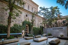 Openluchtmening van Synagoge van Transito in Toledo royalty-vrije stock afbeelding