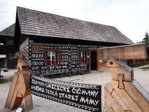 Openluchtmuseum, Dorp, ÄŒiÄ  velen Stock Foto