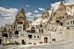 Openluchtmuseum in Goreme, Cappadocia, Turkije Oude holen stock afbeelding