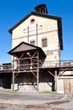 Openluchtmuseum, kolenmijn Mayrau, Vinarice, Kladno, Tsjechische repu Royalty-vrije Stock Foto