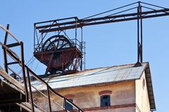Openluchtmuseum, kolenmijn Mayrau, Vinarice, Kladno, Tsjechische repu Royalty-vrije Stock Fotografie