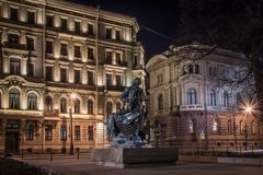 Openluchtmuseum in St. Petersburg stock fotografie