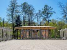 Openluchtoverlegtrefpunt in het Park stock afbeeldingen